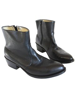 1980's Mens Accessories - Western Style Ankle Boots Shoes