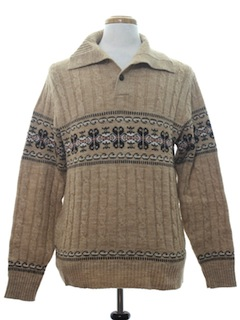 1970's Mens Ski Sweater
