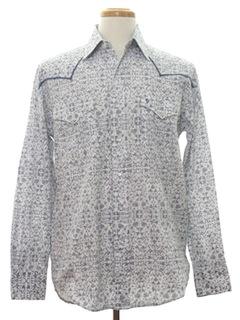 1990's Mens Print Western Shirt