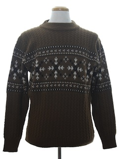 1970's Mens Pullover Ski Sweater