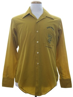 1970's Mens Mod Prep School Uniform Shirt