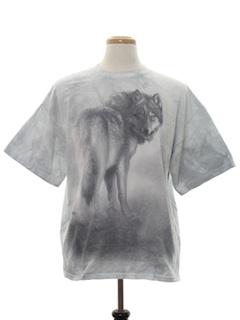 1990's Unisex Animal Print Wolf T-Shirt
