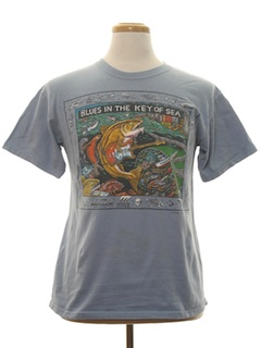 1990's Unisex Animal Print Fishing/Music T-Shirt
