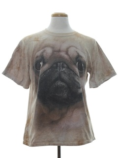 1990's Unisex Animal Print Pug Dog T-Shirt