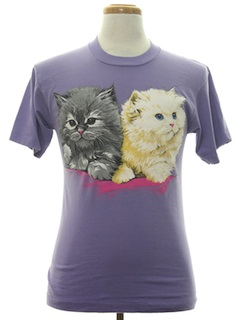1990's Unisex Animal Print Cat T-Shirt