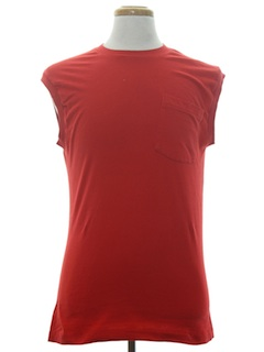 1980's Unisex Plain Solid Muscle T-Shirt