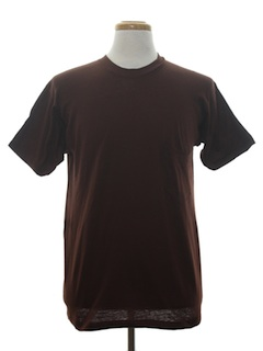 1970's Unisex Plain Solid T-Shirt