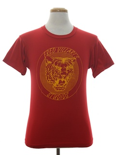 1980's Unisex Cheesy Animal Print T-Shirt