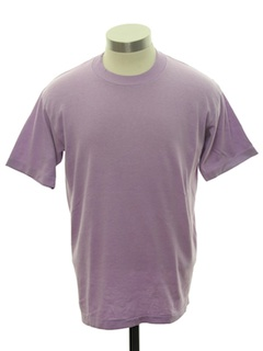 1980's Unisex Plain Solid T-Shirt