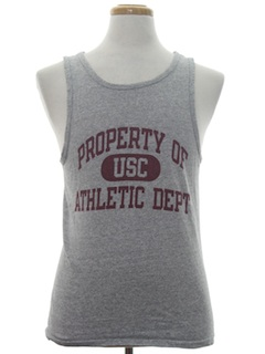 1980's Unisex Muscle Tank Top College Sports T-Shirt