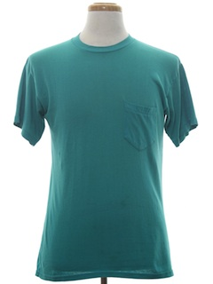1990's Unisex Plain Solid T-Shirt