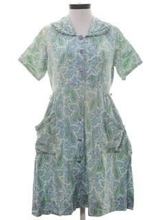 1950's Womens House Dress