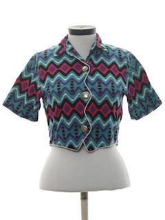 1980's Womens Western Equestrian Shirt