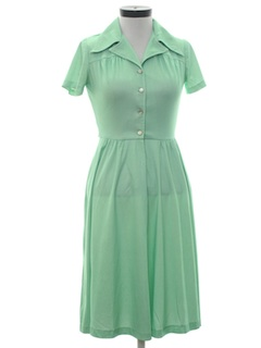 1970's Womens A-Line Day Dress