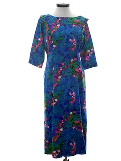 1960's Womens Hawaiian Dress