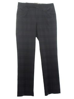1970's Mens Mod Flared Plaid Leisure Pants