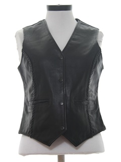 1990's Womens Leather Vest
