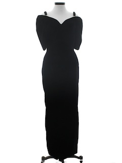 1980's Womens Totally 80s Cocktail Maxi Dress