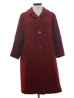 1960's Womens Mod Wool Duster or Wedge Style Coat Jacket