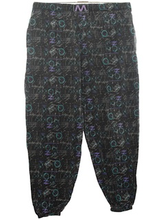 1980's Mens Totally 80s Baggy Print Pants