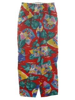 1980's Womens Totally 80s Baggy Print Pants