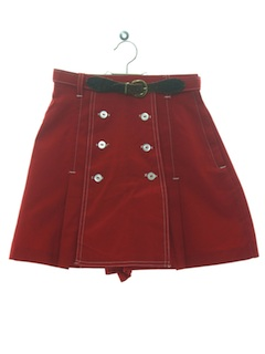 1970's Womens or Girls Tennis Skort Shorts