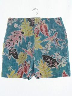 1980's Mens Reverse Print Hawaiian Shorts