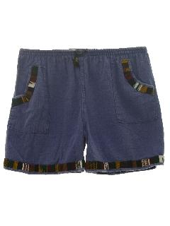 1980's Mens Guatemalan Style Hippie Shorts