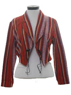 1980's Womens Totally 80s Western Style Jacket