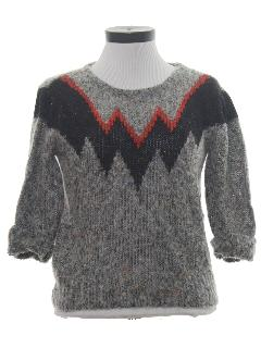 1980's Womens Totally 80s Sweater Shirt