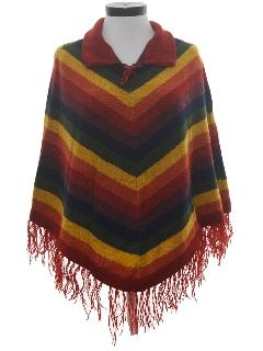 1970's Womens Poncho Sweater