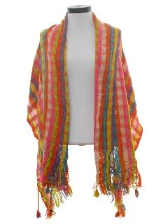 1970's Womens Accessories -  Hippie Shawl Scarf