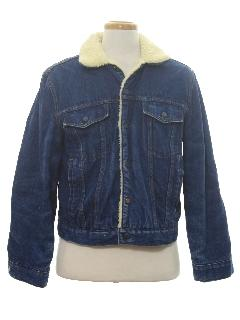 1980's Mens Denim Coat Jacket
