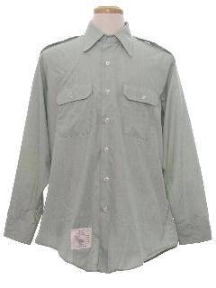 1970's Mens Military Work Shirt
