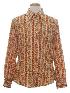 1970's Mens Hippie Style Print Shirt