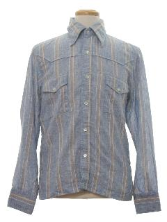 1970's Mens Western Style Shirt