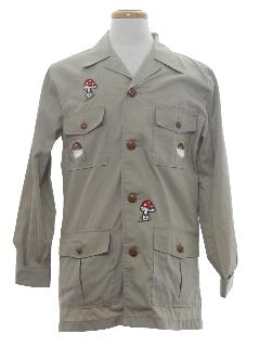 1970's Mens Safari Hippie Shirt