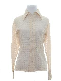 1970's Womens Lace Disco Shirt