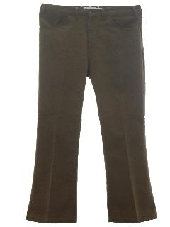 1970's Mens Flare Leg Jeans Cut Pants