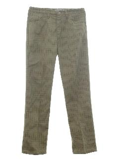 1960's Mens Mod Jean Cut Pants