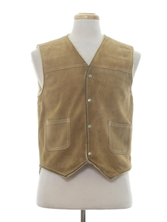 1970's Mens Hippie Style Leather Vest