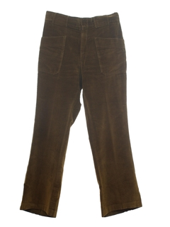 1970's Mens Mod Corduroy Flared Jeans Cut Pants