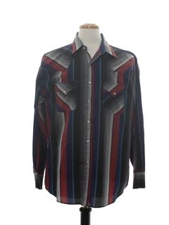 1980's Mens Print Western Shirt