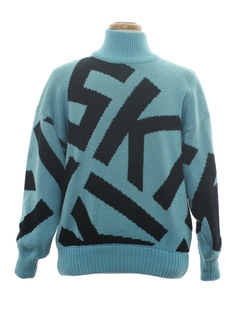 1980's Unisex Totally 80s Ski Sweater
