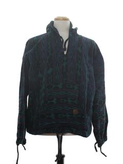 1980's Mens Guatemalan Baja Style Hippie Jacket