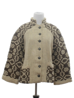 1970's Womens Wool Hippie Jacket