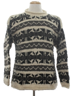 1980's Mens Wool Hippie Sweater