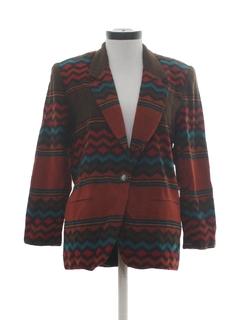 1980's Womens Hippie Style Blazer Jacket