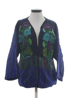 1980's Womens Guatemalan Style Hippie Jacket