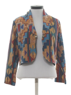 1980's Womens Totally 80s Western Style Blazer Jacket